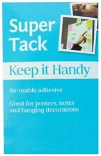 REUSABLE SUPER BLUE TACK ADHESIVE PUTTY HOME SCHOOL USE TAC OFFICE HANDY 75GM