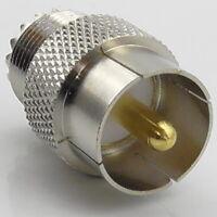 PL259 Quick Release Adaptor, Push On, Push Fit, UHF SO239 Plug Socket RF Adaptor