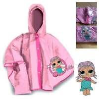 LOL Surprise Dolls Poncho Coat Jacket Rain Pink Splash Girls 4-5 6-7 Festival