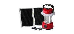 LANTERNA TORCIA LAMPADA CAMPEGGIO 24 LED ENERGIA SOLARE PANNELLO SOLARE SEPARATO