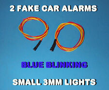 FAKE CAR ALARM LED LIGHT- 3mm BLUE FLASHING 12v 24v  BLINK BLINKING FLASH