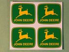 4 JOHN DEERE 2 inch 2-leg Yellow Deer on Green Computer Cut DECALS  J1948