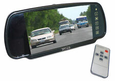 """Clip on Rear View Mirror with built in 7"""" Screen for motorhome rear view cameras"""