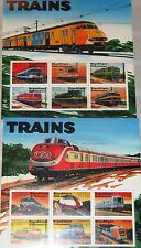 GABON GABUN 2000 Klb 1529-40 MS 991-92 Trains Locomotives Züge Eisenbahn MNH