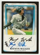 Keenyn Walker Chicago White Sox Signed 2011 Bowman Card
