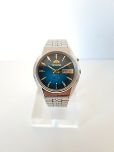 ORIENT Crystal Vintage Automatic Stainless Steel Day Date