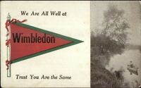 Wimbledon Pennant - ND Reference? c1910 Postcard