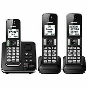 Home Phone with Answering Machine Wireless Portable Cordless Landline System Set