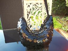 BNWOT LOVELY BLACK SHIMMER DISC EVENING / OCCASION BAG