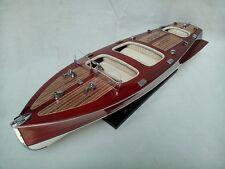 "Cedar Wood Chris Craft Triple Cockpit 24"" High Quality Speed Boat L60 Cream Seat"