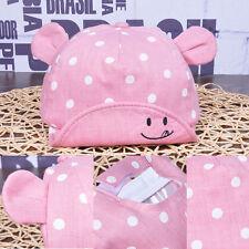 Baby Pink Sun Hat Newborn Boy Girl Toddler Cotton Summer Cap Fit 3-24 Months
