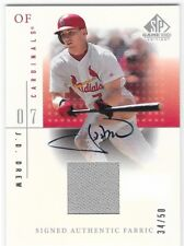 2001 UD SP GAME-USED #S-JDr J.D. DREW AUTHENTIC FABRIC AUTO #34/50 CARDINALS