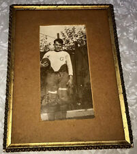 FOOTBALL PHOTOGRAPH ANTIQUE CIRCA:1912 COLLEGE PADS B&W FRAME PIGSKIN PLAYER OLD