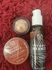 THE BODY SHOP COCONUT BRONZE LOTION & POWDER HIGHLIGHTER