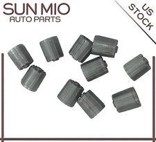10PCS Gray Plastic Tire Valve Stem Caps TPMS Caps Dust Cover WIth Gasket