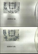 2011-ROMANIA -ZODIAC I+II- MICHEL 65224/9+6565/9 -2 ENGRAVED O. PENDA- BLACK