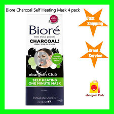 Biore Self Heating One Minute Mask 4 Pack With Natural Charcoal eBC