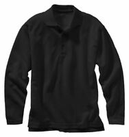Edwards Garment Men's Polyester Wrinkle Resist Long Sleeve Polo Shirt. 1578