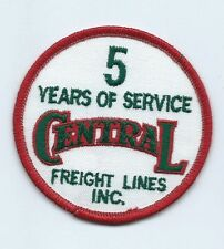 Central Freight Lines Inc 5 years of service driver patch 3 in dia #833