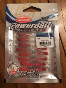 Berkley Powerbait Ice  Wishbone 0.75in Red 18ct Ships N 24h