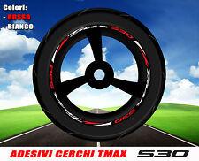 Adesivi cerchi ruote moto scooter Yamaha TMAX 530 T MAX stickers decals