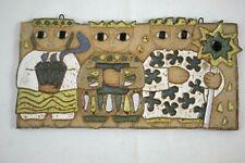 "Saint Andrew's Abbey Ceramics 3 Wise Men Nativity Large Wall Plaque 12"" X 6"""
