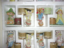 1970s Jasco Little Luvkins Hand Painted Porcelain Votive Candles 12 in Box