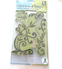 Inkadinkado Clings Flower Flourishes 3 Rubber Stamp