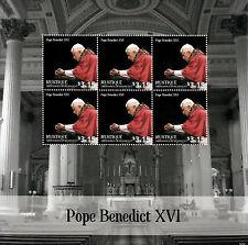 Mustique Grenadines St Vincent 2014 neuf sans charnière le pape Benoît XVI rencontre Francis 6V m / s