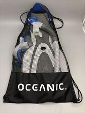 NOB Oceanic Adult Snorkeling Set, Snorkel, Mask, Flippers, & Bag, Size: L / XL