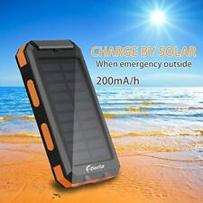 Solar Charger 20000mAh Power Bank, Portable Charger Solar Phone Charger With 2