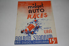 Midget Auto Races Program, San Diego Balboa Stadium, Nov 11 1947, Original #2