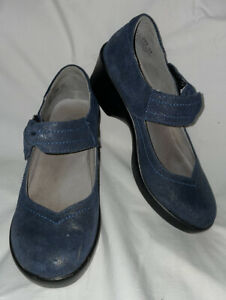 Alegria Sz 36 6-6.5 Ella Sea Essence Ell-250 Leather Mary Jane Clogs Shoes