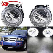LED Fog Lights w/ LED Halo DRL Dodge Dakota Durango Chrysler Jeep Grand Cherokee