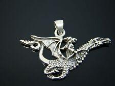 Sterling Silver Dragon Pendant