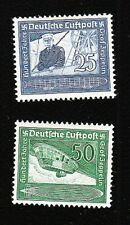 Germany Air Mail Zeppelin 1938 Set MINT NEVER HINGED Michel 669-70 Centering! E