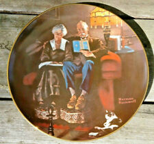 Evening's Ease Norman Rockwell Light Campaign Collector Plate Coa & Box