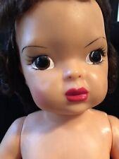 "Vintage Hard Plastic 16"" Terri Lee Brown Eyed Brunette Doll"
