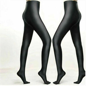 US Womens Shiny Glossy Oil Shimmer Tights Stockings Pantyhose Hosiery Sexy
