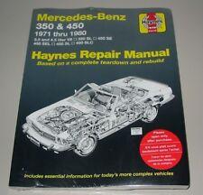 Reparaturanleitungl Mercedes R 107 V8 SL 350 SL 450 SE SEL SLC 1971 - 1980!