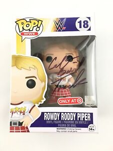 Funko Pop WWE Rowdy Roddy Piper #18 Signed By Colt Toombs in Box Vinyl Figure