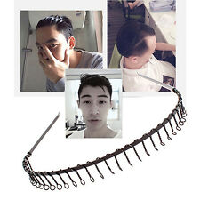 2Pcs Women Men Sport Hairband Mens Headband Toothed Metal Footable Hair Band