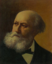 CHARLES GOUNOD, COMPOSER - PORTRAIT BY ELIAS RIVERA  - ORIGINAL OIL PAINTING