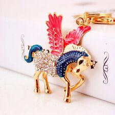 Pegasus Winged Horse Crystal Diamante Bag Charms Handbag Keyrings Pendant
