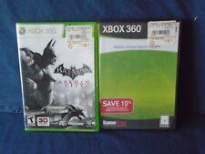 X-Box 360 Batman Arkham Asylum and Batman Arkham Used Game Lot