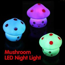 Mushroom LED Night Light Baby Children Nursery Bedroom Desk Bed Side Lamp