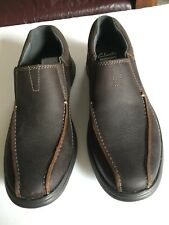 Clarks Men's Cotrell Step Slip On Casual Loafer Brown Oily - 8 1/2 M NIB