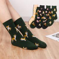 Kawaii Breathable Casual Spring Autumn Cartoon Dog Cat Cotton Socks Ankle Sox