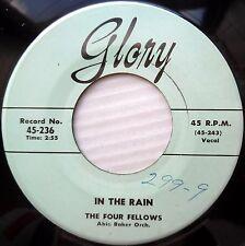 The Four Fellows SOUL doowop 45 on VG+ GLORY Angels Say b/w  In The Rain FM517