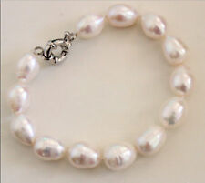 SINGLE STRANDS AAA 11-13MM SOUTH SEA WHITE PEARL BEACLACE 7.5-8 INCH